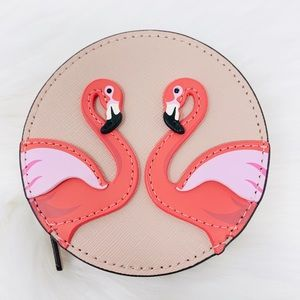 kate spade Accessories - Kate spade flamingo by the pool coin purse vellum